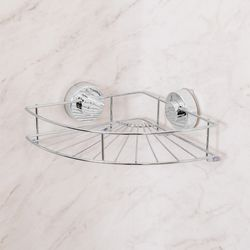 클린바스 흡착식 욕실 코너선반(실버)