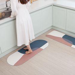 밀크 디자인 소프트 규조토 주방 욕실 발매트 3size