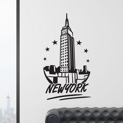 new york star 뉴욕 감성 일러스트 인테리어 스티커