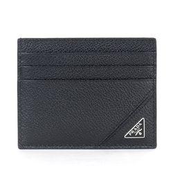 2MC223 사피아노 삼각로고 카드지갑 블랙