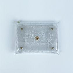 굿럭 PVC 글리터 포켓 파우치(소형)