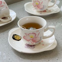 일본 도자기 아리타 한정판 벚꽃엔딩 1인조 찻잔 커피잔