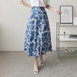 N Leaf Full Long Skirt