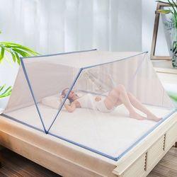 원터치 침대 모기장 텐트 접이식 덮장 패밀리 L
