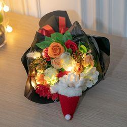 LED 산타비누장미꽃다발 43cmP 조화 선물 축하 FMBBFT