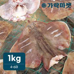 [가락마켓]자연산 반건조 간재미 1kg (4-6미)