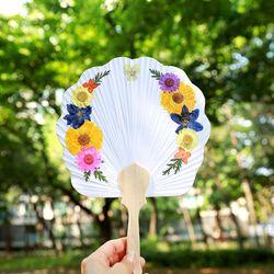 압화부채만들기세트 - 봄바람(연엽선 조가비)