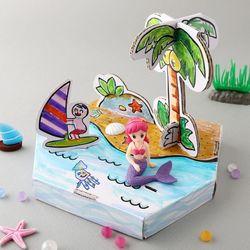 섬나라인어공주만들기(4개)여름만들기종이공작미술