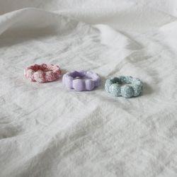 파스텔 페인트 아크릴 볼륨 반지 (3color)