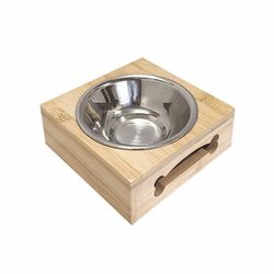 밤부식탁 1구 강아지 고양이 식기 사료그릇