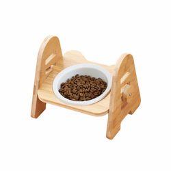 CONTAIL 우드식탁 1구 강아지 고양이 식기 사료그릇