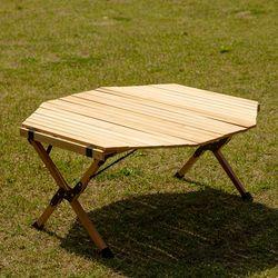 안델센 접이식 우드 팔각형 캠핑 차박 피크닉 휴대용 롤 테이블