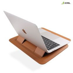 JCPAL 맥북 랩탑 노트북 슬리브 멀티 파우치 거치대 13 브라운