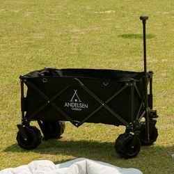 안델센 휴대용 접이식 고강도 캠핑 웨건 다용도 짐캐리어 블랙