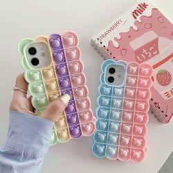아이폰 xr xs max se2 7 8 곰돌이 푸쉬팝 팝잇 케이스