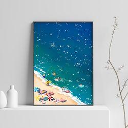 감성 일러스트 인테리어 아트 포스터 [바다 A2 size]