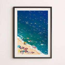 감성 일러스트 인테리어 아트 포스터 [바다 A3 size]