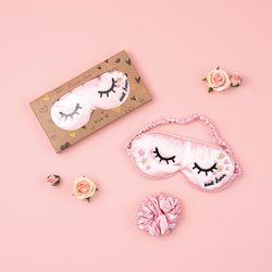 핑키 핑크 슬립 세트 ( 안대 + 곱창밴드 )