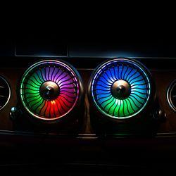 카붐 LED 차량용 송풍구 서큘레이터