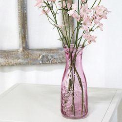 핑크 밀크 유리 화병 꽃병