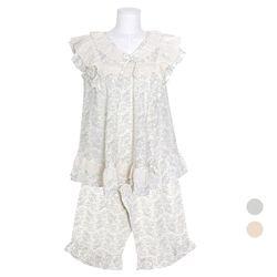 [쿠비카]브이넥 자수레이스 투피스 여성잠옷 W776