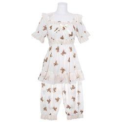 [쿠비카]모카베어 프린팅 투피스 여성잠옷 W773