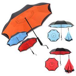 예쁜 거꾸로 접는 반전 우산 반자동 튼튼한 컬러 장우산