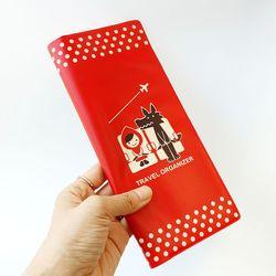 Decole 빨간망토 여권 티켓 커버