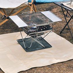 바베큐 방화매트 100x100cm 불멍 화로대 감성캠핑