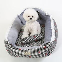 오로라펫 레트로베드 강아지 침대 대형