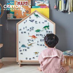 크레용 하우스 보드 유아 아기 자석 칠판 화이트 보드 놀이