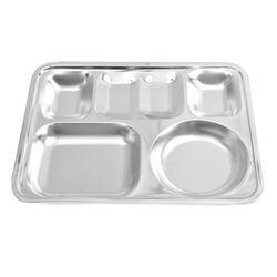 해모 포스코생산 스텐 사각 4찬 식판 접시