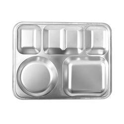 해모 포스코생산 스텐 2020 사각 4찬 식판 접시