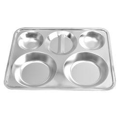 해모 포스코생산 스텐 원형 4찬 식판 접시