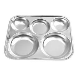 해모 포스코생산 스텐 원형 3찬 식판 접시