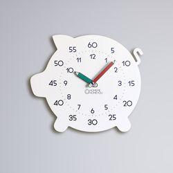 [상세페이지 확인요망] 복돼지 어린이 심플 무소음 교육용 벽시계