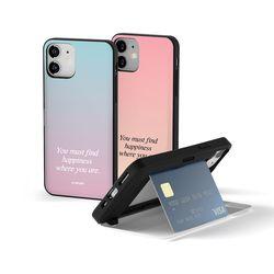 [T]그라데이션 카드 도어범퍼 케이스.아이폰12미니