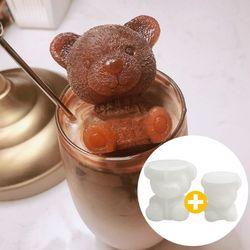 엄마곰 아기곰 얼음틀 세트 (곰돌이 얼음틀)