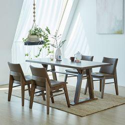 카이 코지 고무나무원목 4인용 식탁세트
