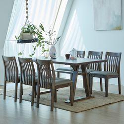 카이 제노 고무나무원목 6인용 식탁세트