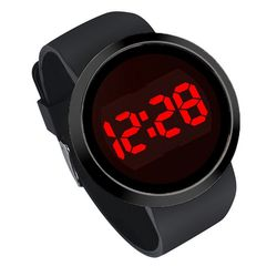 1Plus1 눈뽕급 선명 Red LED Digital Black 손목 시계