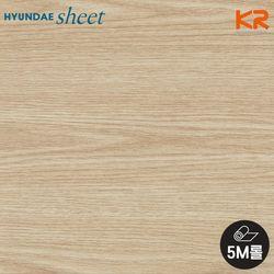 [5M] WD-163 라이트오크 우드 나이테 무늬목