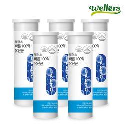 [웰러스] 바른 100억 유산균 400mg 60캡슐 5병