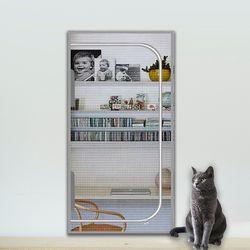 봉봉펫 고양이 안전문 방묘문 방충망 현관 펫도어 A L