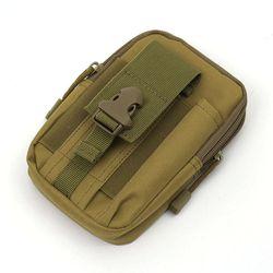 서바이벌 허리벨트 보조가방(브라운)