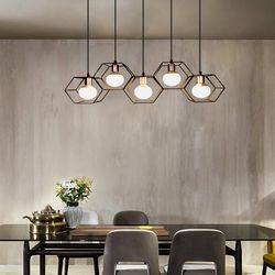 boaz 더글러스5등 식탁등 LED 카페 홈 인테리어 조명