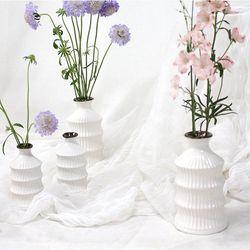 줄무늬 세라믹 도자기 꽃병 시리즈 - C