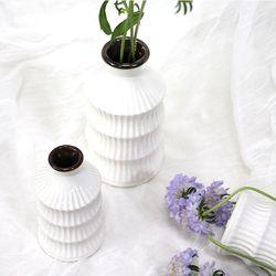 줄무늬 세라믹 도자기 꽃병 시리즈 - D
