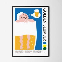 골든슬럼버2 M 유니크 디자인 포스터 여름 맥주 펍 A3(중형)