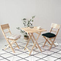원목 접이식 베이직 카페 테이블&의자 세트